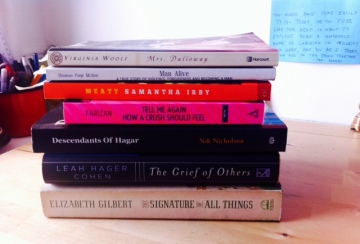 summer reading list, with Roxane Gay's BAD FEMINIST on top as soon as it arrives!